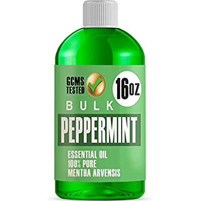 16 OUNCE BULK SIZE BOTTLE OF PEPPERMINT OIL - Compare and Save! Huge 16oz Bottle of Uncut Undiluted Peppermint Oil 100% PURE PEPPERMINT ESSENTIAL OIL - Our Peppermint Oil is completely Uncut and 100% Pure Essential Oil. SO MANY USES - Our Peppermint ...