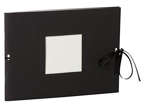 Semikolon (351543) Fotoheft Photo Booklet Landscape black (schwarz)-Fotoalbum mit 20 cremefarbenem Seiten - Mini Foto-Buch im Format: 19 x 14 cm