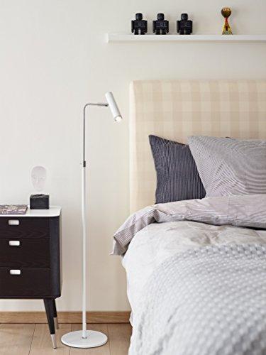 Herstal Vertigo - Lampadaire LED 1 Lumière Chrome, Blanc