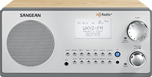 Sangean HDR-18 HD Radio/FM-Stereo/AM Wooden Cabinet Table Top Radio (Renewed)