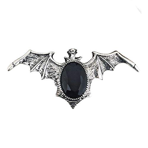 Widmann 7130N - Gotischer Fledermaus Ring mit Edelstein, Damen-Ring, Modeschmuck, Accessoire, Vampir, Hexe, Halloween, Mottoparty