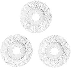 3 Pack 360° Spin Magic Mop Replacement Head, Round Shape Standard Size Microfiber Mop Head Refills for Hurrica Mopnado EGOFLEX Hapinnex Casabella and Other Brands