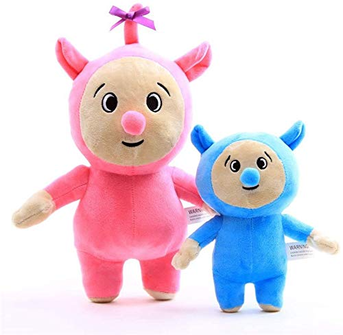 yuailiur Juguete de Peluche 2 Unid Baby TV Billy and Bam Cartoon Plush Figure Toy Soft Stuffed Doll para Niños Cumpleaños