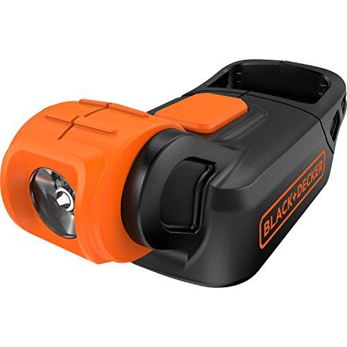 Black+Decker kompakte Akku-Lampe, Handleuchte (18V, 7-stufiger drehbarer Lampenkopf, Leuchtstärke 90 Lumen, kompakt, leicht und handlich, mit Tragegriff, Lieferung ohne Akku und Ladegerät) BDCCF18N