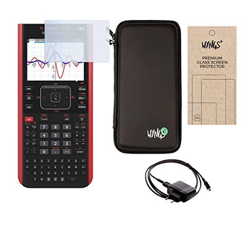 Texas Instruments TI Nspire CX II-T CAS + Ladekabel + Displayschutzfolie + Schutztasche + Lern-CD (auf Deutsch)