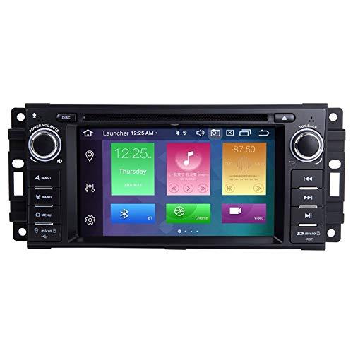 QIQIDIAN Android 10.0 Radio Estéreo del Coche Navegación GPS Compatible con Dodge Ram Challenger Je-EP Wrangler JK Coche Reproductor De Multimedia,Eight Core