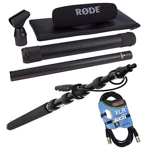 Rode NTG3 Precision RF-Biased Shotgun Microphone, LyxPro Portable Mic Boom Pole, XLR Cable Bundle