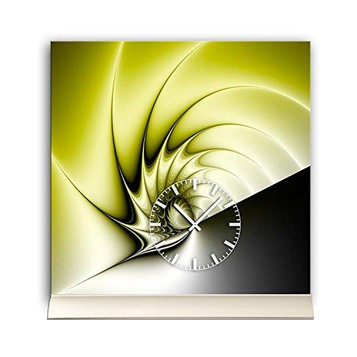 DIXTIME Reloj De Mesa 30cmx30cm Incluye Soporte de Aluminio–Diseño Peaceful Citizen.–Reloj de Pared Reloj de pie tu4214
