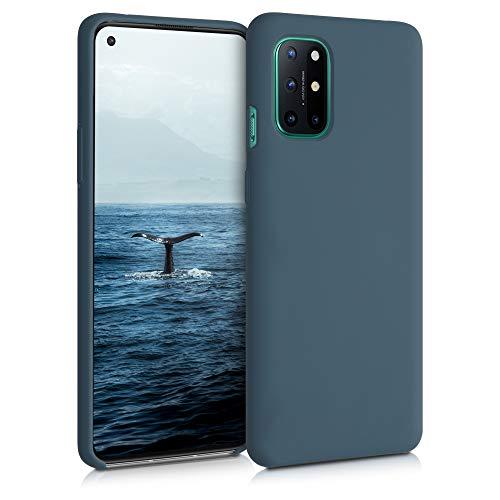 kwmobile Custodia Compatibile con OnePlus 8T - Cover in Silicone TPU - Back Case per Smartphone - Protezione Gommata Ardesia