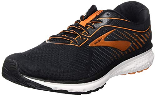 Brooks Ghost 12, Men's Mid-Top Sneaker, Black / Turbulence / Orange, 9 UK (44 EU)
