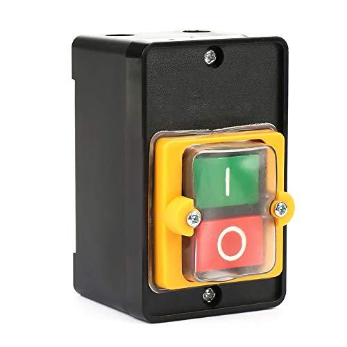 10A Interruptor de botón de encendido/apagado a prueba de agua Botón pulsador utilizado en maquinaria mecánica para equipos textiles AC220V / 380V