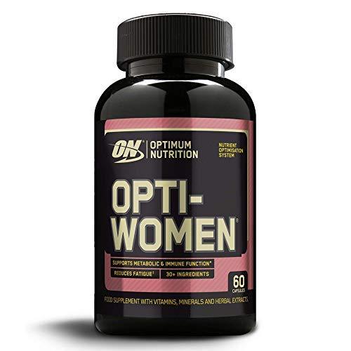 Optimum Nutrition ON Opti-Women, Suplemento Multivitamínico, Multivitaminas y Minerales para Mujeres con Vitamina D, Vitamina C, Magnesio y Acido Folico, sin sabor, 30 porciones, 60 Cápsulas