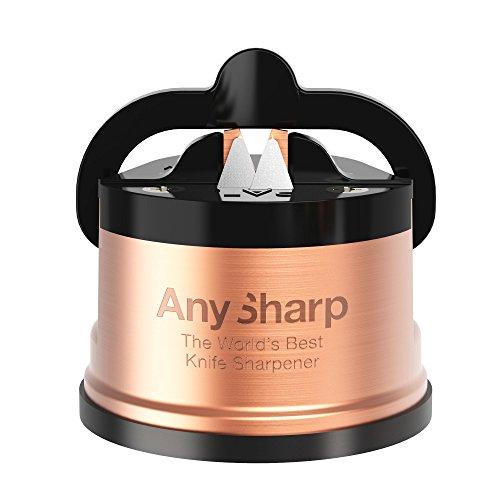 AnySharp Pro Aiguiseur de Couteaux (Métal) avec Ventouse, Cuivre