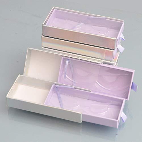 10pcs/Pack Wholesale Eyelash Packaging Box Lash Boxes Package 25mm Mink Lashes Storage Case With Tray Makeup Bulk Vendors (XT-CL-ZS-10pcs)