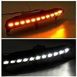 REAMIC 2 Pz Paraurti Anteriore LED Indicatore di Direzione per Q7 2006-2009 Fendinebbia Luce di Marcia Diurna Drl Lampeggio Accessori Faro