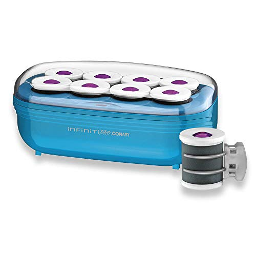 Conair Instant Heat Tourmaline Ceramic Flocked Hot Rollers, 2-Inch Hot Roller Setter for Mega Volume and Smooth Waves, 1 Count