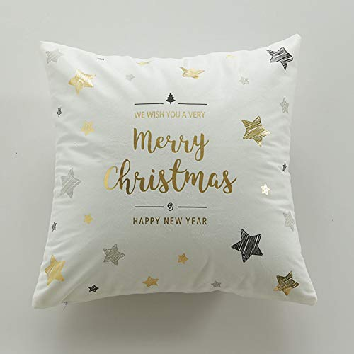 YIERJIU Pillow Cover Pillow Christmas Gold Decorative Pillow Case Cojines Decorativos Para Sofa Housse De Coussin,V