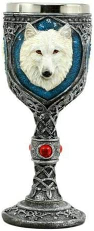 Ghost White Albino Snow Wolf Wine Popular Goblet quality assurance Direwolf 7oz Celtic rit