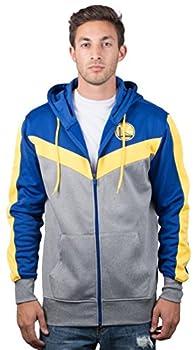 Ultra Game NBA Golden State Warriors Mens Soft Fleece Full Zip Jacket Hoodie Team Color X-Large