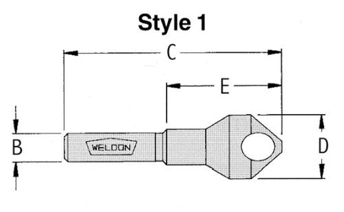 Drill America WELDB-18 3/16'-17/32' 90 Degree Deburring Tool, WEL Series