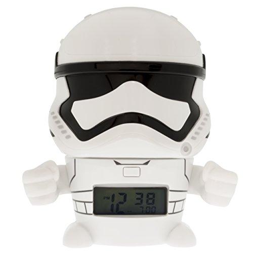 BulbBotz Despertador Infantil con Figurita de La Tropa de Asalto, Blanco, 8.89x12.7x13.97 cm, 2021371