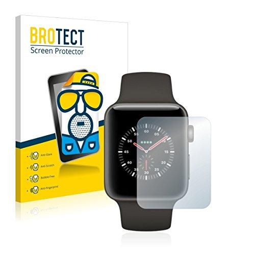 2X BROTECT Matt Displayschutz Schutzfolie für Apple Watch Edition Series 3 (38 mm) (matt - entspiegelt, Kratzfest, schmutzabweisend)