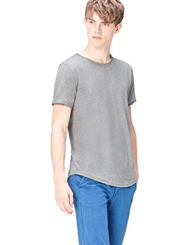 FIND Ss Crew Neck T-Shirt, Camiseta para Hombre, Gris (Siro), Medium