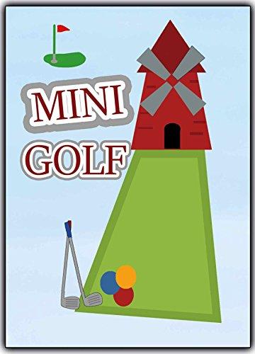 Minigolf Einladungskarten Einladung Golf Geburtstagseinladung Ausflug Party Karten Kindergeburtstag Kinder Erwachsene Jungen Mädchen