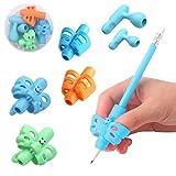 Impugnatura Matita, Yuccer 6 Pezzi Pencil Grip per Bambini Penna Impugnatura Ergonomica Aiuto Scrittura Strumento Correzione Della Postura per Adulti