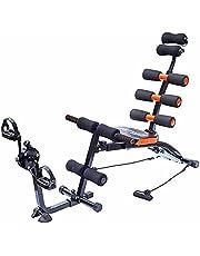 آلة تمرين عضلات البطن سيكس باك كير - لون اسود وبرتقالي