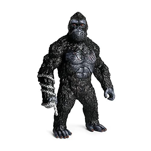 Fllyingu Figura De Gorila, Juguetes De Gorila De Pie Realista Mono Modelo Animal Juguete King Kong Juguetes Orangután Animales Adornos Regalo del Día De Los Niños para Coleccionistas