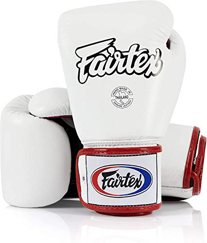 Fairtex Muay Thai Boxing Gloves BGV1 Color Black Blue Red Yellow White Size 10 12 14 16 oz Training Sparring Gloves for Kick boxing MMA K1 Blue 14 oz
