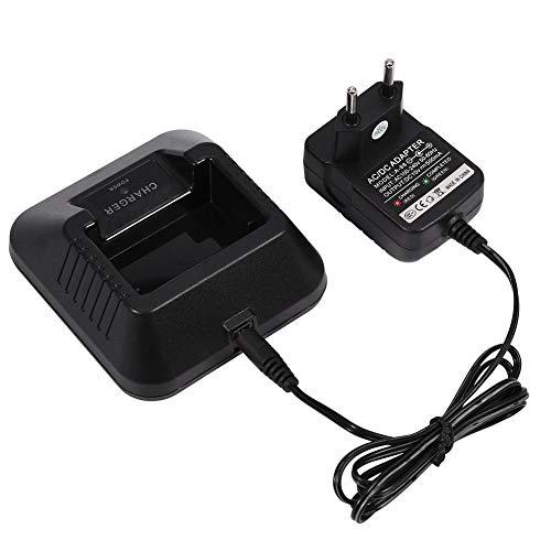Fuente de alimentación del Cargador de Escritorio VBESTLIFE para Baofeng UV-5R 5RA 5RB 5RC 5RD 5RE Radio bidireccional walkie Talkie (UE)