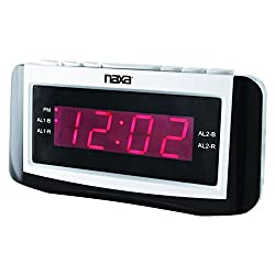 Naxa PLL Digital Alarm Clock with AM/FM Radio, Snooze & Large LED Display consumer electronics Electronics