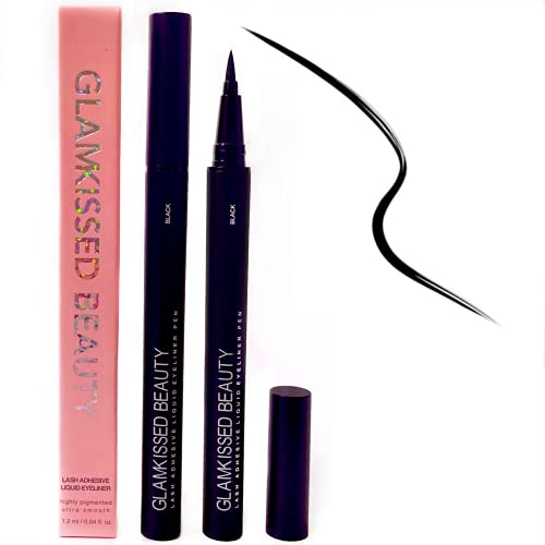 Lash Glue Liner - Falsche Wimpern Selbstklebender Eyeliner Stift (schnelltrocknend) - Wimpernkleber Alternative - kein magnetischer Eyeliner (schwarz)
