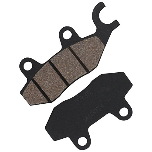 Xfight-Parts Bremsbelag Satz hinten rechts mit Widerlager links für Doppelkolben Bremszange A 96.6x41.9x8mm B 76.9x41.9x8mm 701906 für Kreidler RMC-E 50 Hiker Amaze Elektroroller