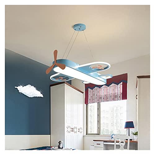 Iluminación de techo Lámpara colgante LED moderna para la habitación de los niños Dormitorio Casa Inicio Avión Colgante Techo Araña Decoración Luz de Lighture ( Body Color : Blue , Size : Brightness )