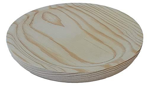 Plato de pulpo de madera de pino natural 22cm