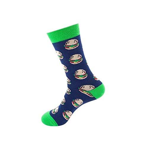 LILONGXI Lustige Socken,Weibliche Draußen Sport Atmungsaktiv Antibakteriell Baumwollsocken Burger Essen Muster Drucken Herbst Winter Fashion Warme Socken Stricken Socken(3pcs)