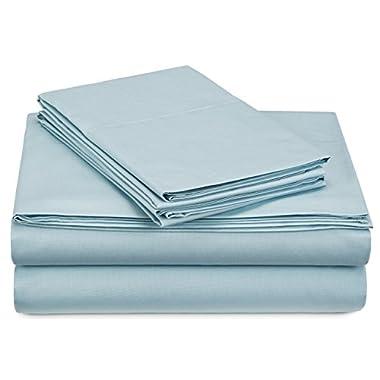 Pinzon 300-Thread-Count Percale Sheet Set - King, Spa Blue