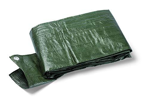 Schuller Eh'klar Terra S90 5 x 6 m Abdeckplane, Gewebeplane grün, 90 g/m2, mit Ösen, reißfest und wetterfest, 46509