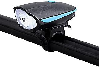 Luz LED Para Bicicleta USB Recarregável Com Buzina, Farol Dianteiro Para Bike Resistente à Água Recarregável, Luz Dianteir...