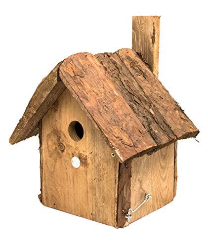 mgc24® Vogelhaus für Blaumeise - Wildvogel Nistkasten, Holz naturoptik