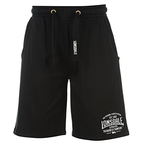 Lonsdale Mens Box Lightweight Shorts Pants Bottoms Boxing Sports Clothing Black Medium