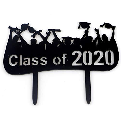S-TROUBLE Congrats Grad Acrylic Class of 2020 Cake Topper Felicitaciones Graduación Universidad Graduado Fiesta Suministros