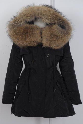 『ファッションコート 大きいアライグマの毛皮の襟』のトップ画像