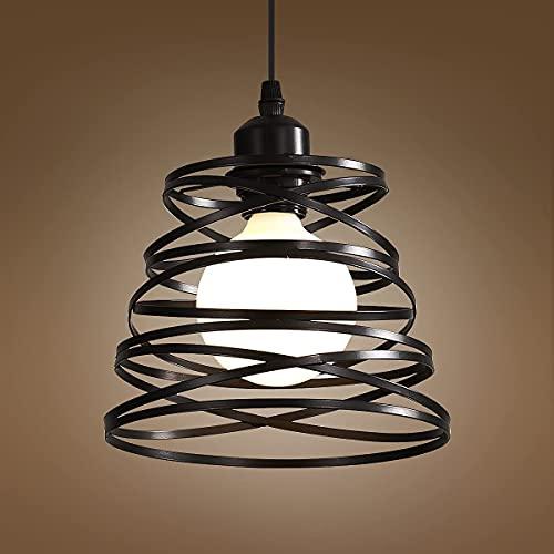 Lámpara Colgante Vintage de Metal, E27 Lámpara de Araña Moderna con Pantalla...