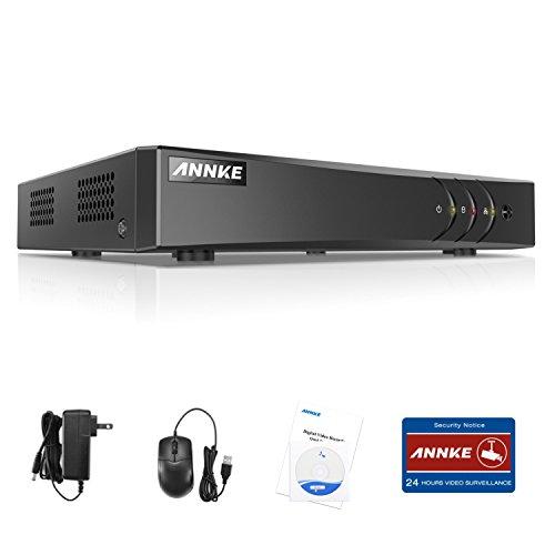 ANNKE kit de seguridad 8CH DVR 1080P Lite AHD/TVI/CVI/ CBVS/IP 5-en-1 H.264 P2P CCTV Seguridad Detección de Movimiento Alarma Email para Cámara de Vigilancia-sin HDD