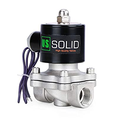 """3/4"""" Stainless Steel Electric Solenoid Valve 12VDC N.C. Air Water Fuel VITON from U.S. SOLID"""