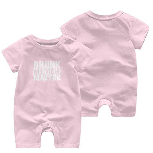 Fhcbfgd Unisex Baby Drunk Wives Matter Jumpsuit Bodysuit Romper